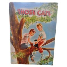 1947 First Edition Those Cats Book By Virginia Cunningham