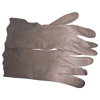 Mid-Century Kislav Glace France  Kid Leather Evening Gloves