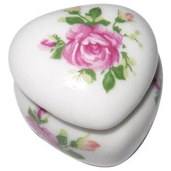 Beautiful Vintage Dollhouse Ceramic Trinket Box