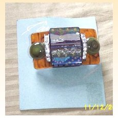 Vintage...Collage..Art Deco Inspired Pin / Brooch..Different!