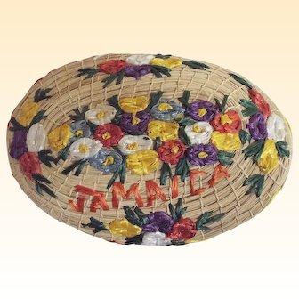 Jamaica Embroidered Floral Face Basket