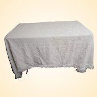 Bates George Washington White Hobnail Bedspread...Full Size..Heavy Weight..Excellent Condition