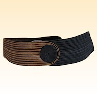 Contour 1980's Belt By Philip Sand Of Passementerie Rayon Trim..Sample