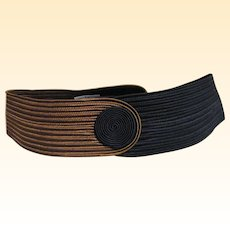 Contour 1980's Belt By Philip Sand Of Passementerie Rayon Trim..Sample