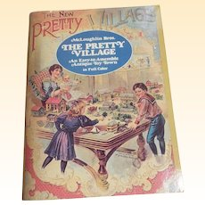 The New Pretty Village..An Easy To Assemble Ant. Toy Town..McLoughlin Bros...1980 Edition..New Condition!