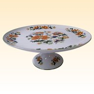 Cake Stand By Dolphin in Olympus Floral Pattern...Excellent Condition!