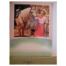 Cardboard Calendar Back..1965..DALE EVANS & TRIGGER..Riding Partners..Litho..A Scheer..Never Used Condition