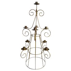 """Vintage Iron Table Candelabra Rustic Finish Measures 28"""" Tall By 45"""" Wide"""