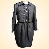 Vintage..DESIGNER Carolyne Roehm Black Quilted Lurex Jacket / Halter Dress....New Condition