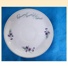 Cup/Saucer Sets & 3 Creamers From Bermudiara Harmony Hall Belmont Hotel..Violets..Wedgwood Bone China..Excellent Condition!