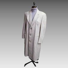 Ratazzi...Men's Winter Over-Coat..Off White Wool..Size 42