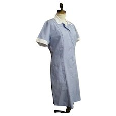 Costume..Uniform..Hospital Worker..Student Nurse..Blue / White Cord..Poly Cotton..Angelica..Large..New Condition