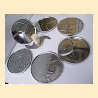 Cuisinart Disc Accessories..Assorted 6 With Stem..Japan..