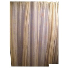 Early 20th Century Lace Curtains / Drapes..Set of 3 Panels..Ivory