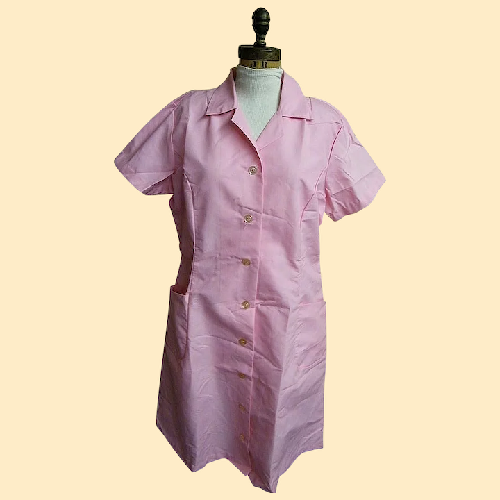 Pink Hair Dresser Uniform Costume