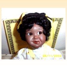 Ashton Drake Galleries: Little Handfuls Josie African- American Porcelain Baby Doll