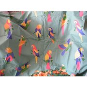"""PARROT Design Printed Drapery Fabric By Laura Ashley..2 Yds 20""""..Cotton..Never Used"""