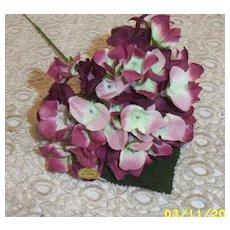Hydrangea Wine Millinery Flower