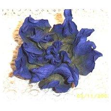 Violet Crinkled Paper Flower