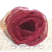 Starched Organdie Antique Vintage Rose Colored Millinery  Rose