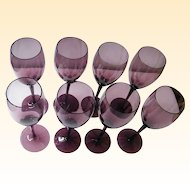 Modern Mauve Stemware..Mid-Century..Set Of 8..& Set of 6 Available