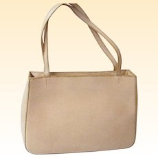 Desmo Embossed Reptile Leather Small Handbag..Light Beige..,Made In Italy