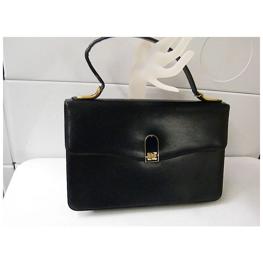 Handbag Leather Lined 1950 S France