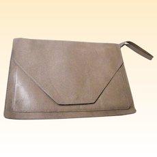 Gaetano New York Envelope Handbag..Beige Embossed Reptile Leather