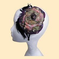 Bridal Headpiece Hand Made Of Silk And Beads