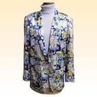 Nicole Miller's..Fun In The Sun With Bacardi Print Silk Jacket..Size M..Korea