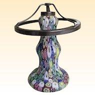 Vintage..Italian Venetian Murano Glass Millefiori Lamp