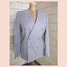 LeMans By Carl Davis..Light Gray Suit / Sports Jacket Of Light Gray Wool..Italy..Excellent Condition!