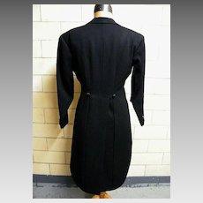 Tuxedo / Tails & Slacks..Custom Made..Bespoken.. BZ..Black Wool..Excellent Vintage Condition