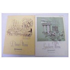 SCHRAFFT'S Menu..Lunch & Dinner..1960-01..Advertising Back..NY Landmark Series..2 Available