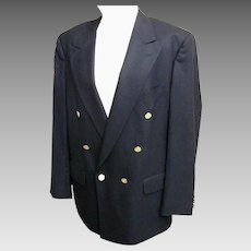 Men's Burberrys' Navy Wool Double Breasted Blazer / Sports Jacket..Bloomingdales...Excellent Condition