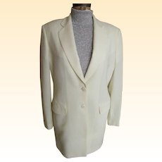 """Men's Formal Off-White Sports Jacket..Light Weight Wool..Twill / Crepe Weave..LA CORDEE..Italy..Size 46"""" Excellent Condition"""