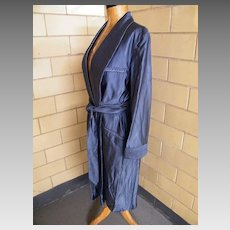 Men's Peerless Woven Rayon Dobby Iridescent Smoking Dressing Gown Shawl Collar Robe.Peerless Made For McInery Honolulu