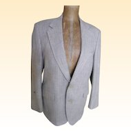 Men's Sports Jacket Linen Weave / Color Wool..Bret Lawrence New York London..Excellent Condition...USA