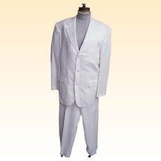 Men's White Moygashel Linen Suit..Philippines..