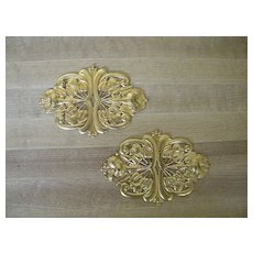 Vintage Art-Deco Style Ormolu..Embossed Brass..Excellent Condition.. 2 Available