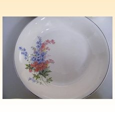 Universal Cambridge Dessert Set...Serving Bowl Plus 4 Cups..Floral Spray