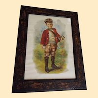 Framed Golf Boy Print Victorian By Charles Spiegel