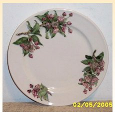 "Vintage Lamberton 9.5"" Plate..Mountain Laurel.. For Pocono Manor Inn..Sterline..Ivory"