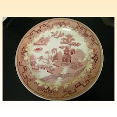 Red Willow Transferware...Restaurant..Sterling China..C5 Series..USA...2 Sets Of 4 Plates