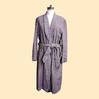 Dressing..Smoking..Lounging Robe..Shawl Collar..Wool Check..Bloomingdale's Men's Store