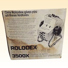 Vintage Rolodex Card File..New In Box