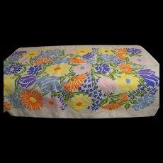 "Hand Made Wool Needlepoint Multi-Floral Rug, Throw. Wall-Hanging..Irish Linen Backing..55.5"" X 34.5"""