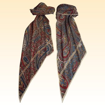 Paisley Silk Scarf..Rectangular Shape...By Echo...2 Scarves Available