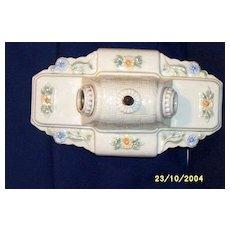 Vintage Porcelier Double Light Ceiling Or Wall Sconce...Floral Accent