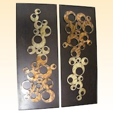 Mid Century Modern Metal Sculptures... Sold Separately...2 Available
